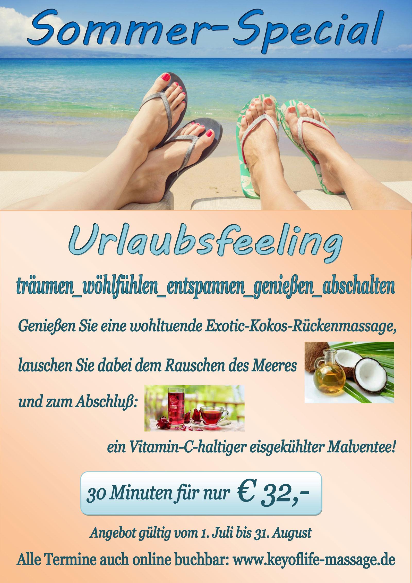 Frühlingsangebot der Massagepraxis Key of Life